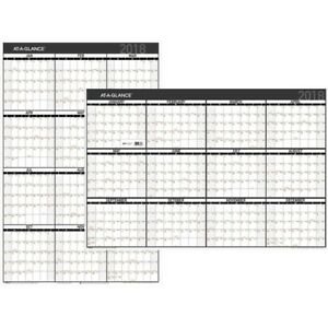 At a glance Contemporary Erasable reversible Yearly Wall Planner Pm26x28