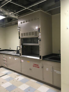Safeaire Fisher Hamilton 4 Laboratory Fume Hood Stainless Surface