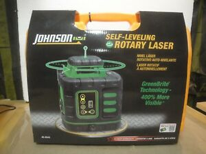 Johnson 40 6543 Self leveling Rotary Laser Level W Greenbrite Technology 2c