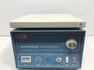Beckman Tj 6 Benchtop Centrifuge With Swing Bucket Rotor 30 day Warranty