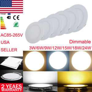 Ce Led Recessed Ceiling Panel Lights Downlight Fixtures Lamp Light With Dimmable