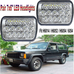 Popular 45w Osram 7x6 5x7 Led Halo Drl Projector Headlight For Jeep Yj Xj