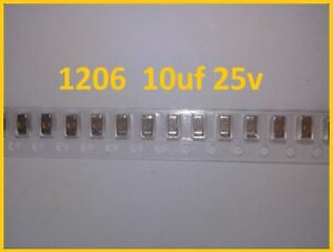1000pcs Condensateurs Cms Smd 1206 10uf 25v X5r Samsung In Stock