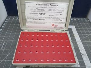 M 0 Plus Vermont Pin Gage Set 011 060 50 Pieces Pristine Condition b7bb