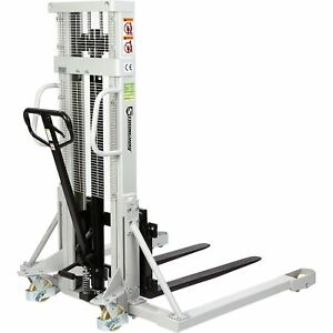 Strongway Manual Pallet Stacker 2200 lb Capacity 98in Max Lift
