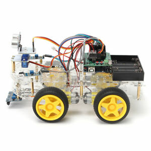 4wd For Arduino Motor Starter Programmable Learning Auto Control Car Kit Robot