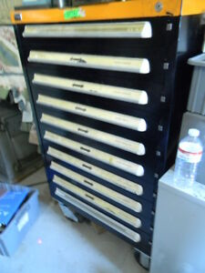Stanley Vidmar 10 Drawer Rolling Tool Or Storage Cabinet