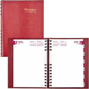 Brownline Coilpro Daily Hard Cover Planner Cb389cred