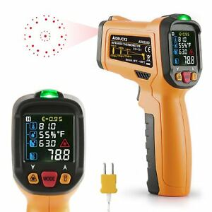 Infrared Thermometer Aidbucks Ad6530d Digital Laser Non Contact Cooking Ir Gun