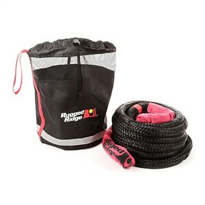 Rugged Ridge 15104 30 Kinetic Recovery Rope With Cinch Storage Bag 7 8