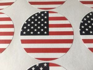 United State Of America Flag Sticker Round Labels Car Envelop Shipping Seals