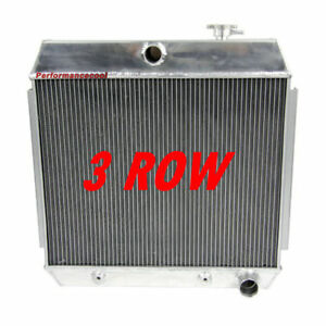 3 Row Aluminum Radiator For 1955 1956 1957 Chevy Bel Air Nomad V8 Only