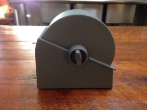Vintage Bates Model R23 500 Industrial Gray Metal Rotary File Rolodex W Cards