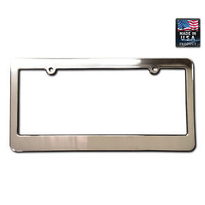 License Plate Frame Chrome Faced Ad Free Blank With Minor Scratchs Blemishes