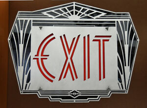 Exit Sign Art Deco Vintage Style Lighting Ext 314
