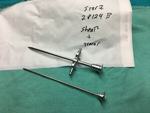 Storz 28124 B Sheath And Trocar Surgical Instruments