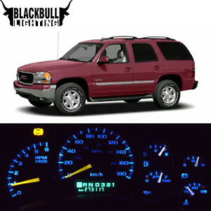 Blue Led Interior Replacement Dash Cluster Lights For 2000 2002 Chevrolet Tahoe