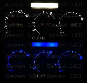 Replacement Climate Control And Clock Led Bulbs For Lexus Is300 01 05