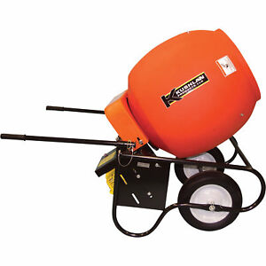 Kushlan 6 Cubic Ft Drum Portable Gas powered Concrete Mixer 600 Gas