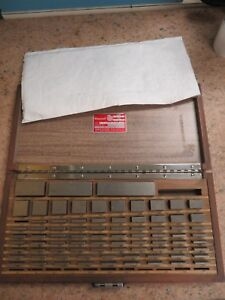 Starrett Webber 80 Piece square English Gage Block Set In Case Grade A Nb6