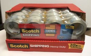 40 Rolls Scotch Heavy Duty Shipping Packaging Tape 1 88 Inches X 54 6 Yards