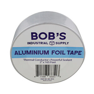Bisupply Aluminum Foil Tape 2 Inch Pipe Insulation Thermal Tape 165 Ft