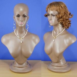 Brand New 25 Brown black Female Mannequin Head Bust 104b