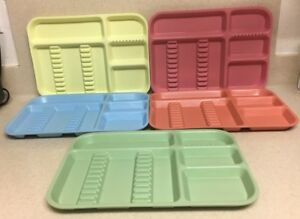 Preowned Used Zirc Co Ritter Microban Plastic Dental Instrument Tray Lot Of 5