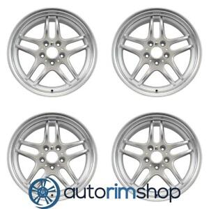 Bmw 740i 18 Oem Bmw Style 37 Staggered Wheels Rims Set Machined With Silver