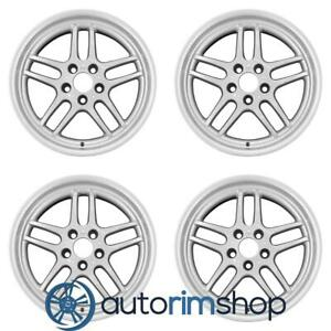 Bmw 740i 750i 18 Oem Bmw Style 37 Staggered Wheels Rims Set Silver 36112227631