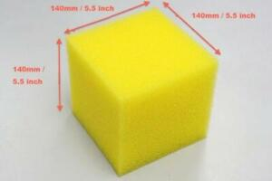 Yellow Fuel Cell Foam 140x140x140mm For Hard Soft Racing Fuel Tank