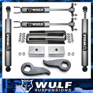 3 Front 2 Rear Leveling Lift Kit Shocks For 2011 2019 Chevy Silverado 2500hd