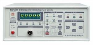 Tonghui Th2512b Dc Low ohm Meter Direct Current Low Resistance 0 001m 19 999k