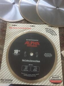 Alpha Porcellana Wet Cutting Diamond Blade 10
