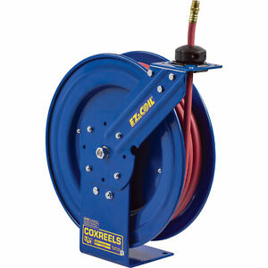 Coxreels Ez p lp 325 Air water Hose Reel W 3 8in X 25ft Pvc Hose Max 300psi