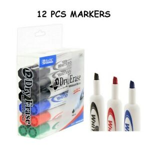 Whiteboard Chisel Point Dry Erase Low Odor 12 Markers 1270