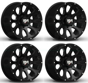 22x10 Rdr Rd02 Rd2 6x5 5 6x139 7 0 Black Wheels Rims Set 4
