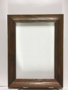 Vtg Arts And Crafts Mission Mid Century Solid Oak Picture Frame Fits 10 X14