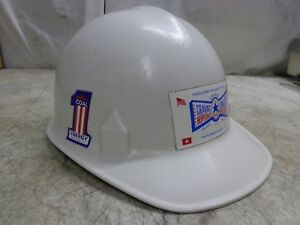 Vintage Jackson White Hard Hat For Construction Or Coal Mining