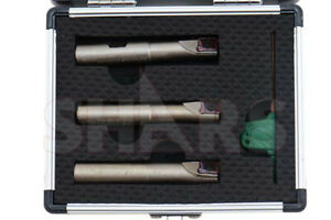 Shars 1 2 9 16 5 8 Mini Indexable End Mill Set With Apkt 1003 Insert New P