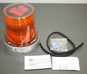 Federal Signal Model 851 Led Beacon Strobe Amber Flashing Light 420450 02