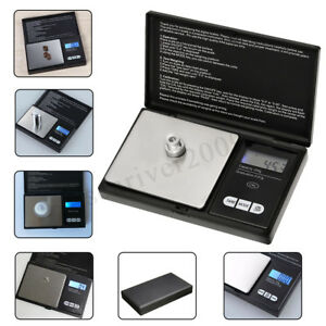 LCD Display Precision Digital Scale Reloading Powder Grain Jewelry Carat Black