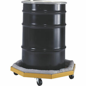 Valley Craft 1000lb cap drum Dolly W absorbent Collar for Drums 22 28in ia