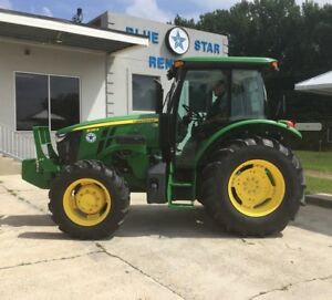 2015 John Deere 5085e Tractor 85 Hp W cab Heating A c Warranty Low Hours