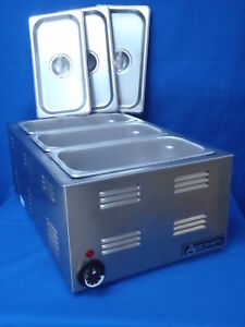 Steam Table Warmer With 3 1 3 Sized Pans With Covers
