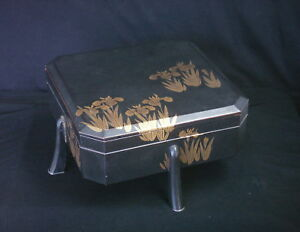 Fine Japanese Lacquer Footed Box