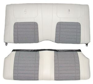 1968 Camaro Coupe Deluxe Houndstooth Interior Rear Seat Covers Parchment