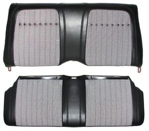 1969 Camaro Convertible Deluxe Houndstooth Interior Rear Seat Coves Black