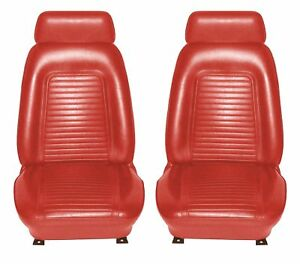 1969 Camaro Standard Interior Bucket Seat Covers Red