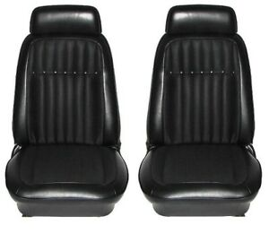1969 Camaro Deluxe Interior Comfortweave Bucket Seats Assembled Black